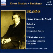 Brahms: Piano Concerto No. 2 / Waltzes, Op. 39 (Backhaus) (1932-1939) - CD