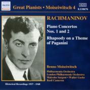 Benno Moiseiwitsch: Rachmaninov: Piano Concertos Nos. 1 and 2 (Moiseiwitsch, Vol. 4) (1937-1948) - CD