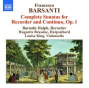 Barnaby Ralph: Barsanti: 6 Recorder Sonatas, Op. 1 - CD