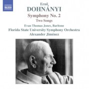 Florida State University Symphony Orchestra, Evan Thomas Jones: Dohnányi: Symphony No. 2 & 2 Songs - CD