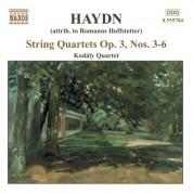 Haydn: String Quartets Op. 3, Nos. 3 - 6 - CD