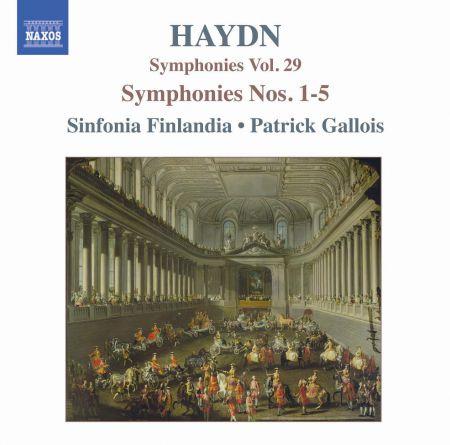 Haydn: Symphonies, Vol. 29 (Nos. 1, 2, 3, 4, 5) - CD