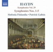 Haydn: Symphonies, Vol. 29 (Nos. 1, 2, 3, 4, 5) - CD