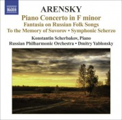 Russian Philharmonic Orchestra: Arensky, A.: Piano Concerto / Ryabinin Fantasia / To the Memory of Suvorov / Symphonic Scherzo - CD