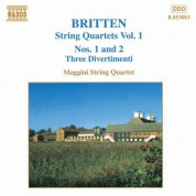 Britten: String Quartets Nos. 1 and 2 / Three Divertimenti - CD