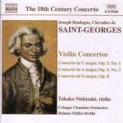 Saint-Georges: Violin Concertos Op. 5,  Nos. 1-2 and Op. 8 - CD