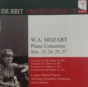 İdil Biret, John Gibbons, London Mozart Players, Worthing Symphony Orchestra: Mozart: Piano Concertos No. 15, 24, 25, 27 - CD