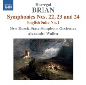 Moscow State Symphony Orchestra, Alexander Walker: Brian: Symphonies Nos. 22, 23, 24 - English Suite No. 1 - CD