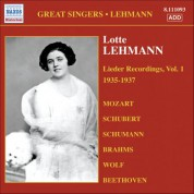 Lehmann, Lotte: Lieder Recordings, Vol. 1 (1935-1937) - CD