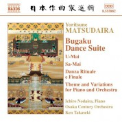 Matsudaira: Bugaku Dance Suite / Theme and Variations for Piano and Orchestra - CD