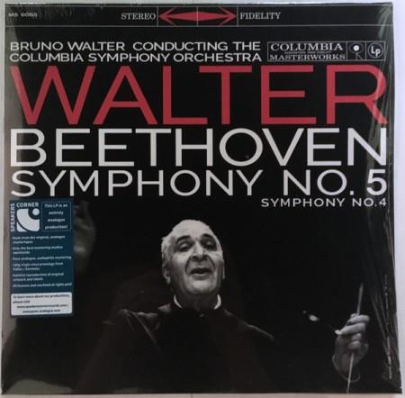 Bruno Walter, Columbia Symphony Orchestra: Beethoven: Symphony No. 5, Symphony No. 4 - Plak