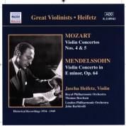 Jascha Heifetz: Mozart / Mendelssohn: Violin Concertos (Heifetz) (1934-1949) - CD