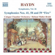 Haydn: Symphonies, Vol. 26 (Nos. 41, 58, 59) - CD