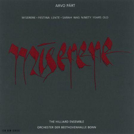 The Hilliard Ensemble, Paul Hillier: Arvo Part: Miserere - CD