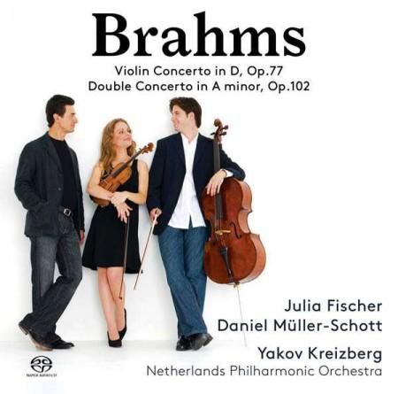 Julia Fischer, Daniel Müller-Schott, Yakov Kreizberg, Netherlands Philharmonic Orchestra: Brahms: Violin Concerto in D, Op. 77 & Double Concerto in A Minor, Op. 102 - SACD