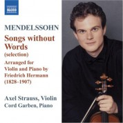 Axel Strauss: Mendelssohn: Lieder Ohne Worte (Songs Without Words) - CD