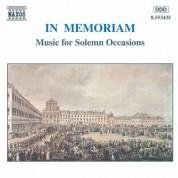 In Memoriam - Music for Solemn Occasions - CD