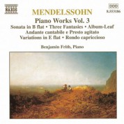 Mendelssohn: Sonata in B-Flat Major / Fantasies, Op. 16 - CD