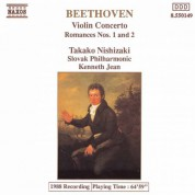 Kenneth Jean, Takako Nishizaki, Slovak Philharmonic Orchestra: Beethoven: Violin Concerto - Romances Nos. 1 & 2 - CD
