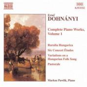 Dohnanyi: 6 Concert Etudes / Variations, Op. 29 / Ruralia Hungarica - CD