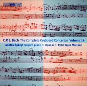 Miklós Spányi, Opus X Ensemble: C.P.E. Bach: Keyboard Concertos, Vol. 14 - CD