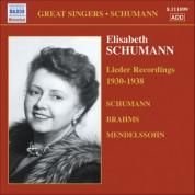 Schumann, Elizabeth: Brahms / Mendelssohn / Schumann: Lieder (1930-1938) - CD