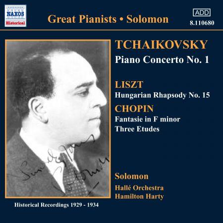 Solomon Cutner: Tchaikovsky: Piano Concerto No. 1/ Chopin: Etudes (Solomon) (1929-1930) - CD