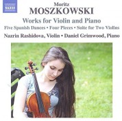 Nazrin Rashidova, Daniel Grimvood: Moszkowski: Works for Violin and Piano - CD