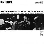 Mstislav Rostropovich, Sviatoslav Richter: Beethoven: Sonatas For Piano & Cello - Plak