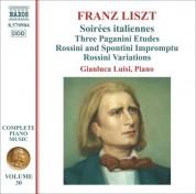 Gianluca Luisi: Liszt, F.: Soirees Italiennes / Paganini Etudes / Impromptu Brillant Sur Des Themes De Rossini Et Spontini - CD