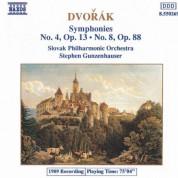 Dvorak: Symphonies Nos. 4 and 8 - CD