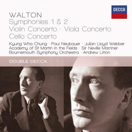 Walton: Symphonies 1 & 2; Violin Concerto; Viola Concerto; Cello Concerto - CD