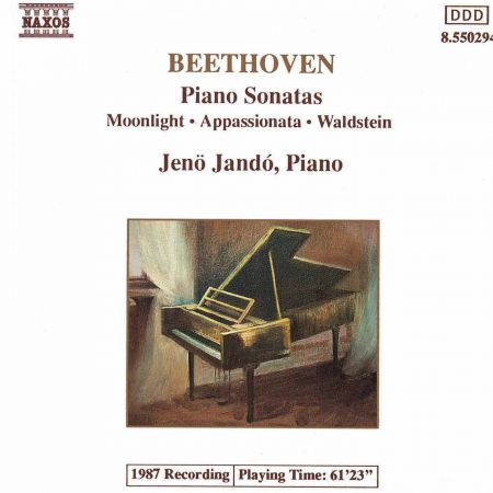 Jeno Jando: Beethoven: Piano Sonatas Nos. 14, 21 and 23 - CD