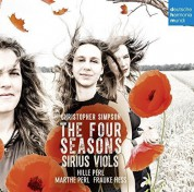 Sirius Viols: Simpson: The Four Seasons - CD