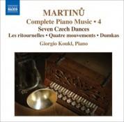 Giorgio Koukl: Martinu, B.: Complete Piano Music, Vol. 4 - CD