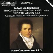 Elisabeth Westenholz, Collegium Musicum Copenhagen, Michael Schønwandt: Beethoven: Piano Concertos Nos.1 & 3 - CD
