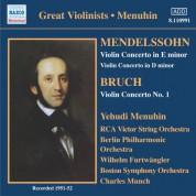 Yehudi Menuhin: Mendelssohn / Bruch: Violin Concertos (Menuhin) (1951-1952) - CD