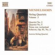 Mendelssohn: String Quartets Nos. 2 and 5 / Scherzo Op. 81, No. 2 - CD