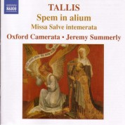 Jeremy Summerly: Tallis, T.: Spem in alium - Missa Salve intemerata - CD