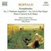 Berwald: Symphonies Nos. 3 and 4 / Piano Concerto - CD