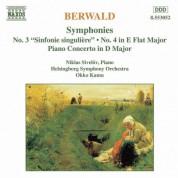 Berwald: Symphonies Nos. 3 and 4 / Piano Concerto - CD