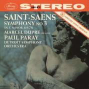 """Paul Paray, Marcel Dupré, Detroit Symphony Orchestra: Saint-Saens: Symphonie Nr.3 """"Orgelsymphonie"""" - Plak"""