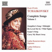 Tchaikovsky: Songs (Complete), Vol.  1 - CD