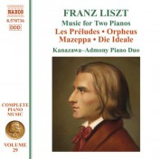 Kanazawa-Admony Piano Duo: Liszt: Preludes (Les) / Orpheus / Mazeppa / Die Ideale (Arr. for 2 Pianos) - CD