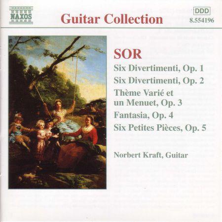 Norbert Kraft: Sor: 6 Divertimenti, Opp. 1 and 2 / 6 Petite Pieces, Op. 5 - CD