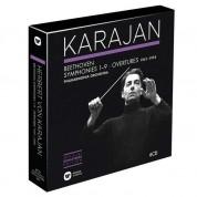 Herbert Von Karajan, Philharmonia Orchestra: Beethoven: Symphonies 1-9, Overtures (1951-1955) - CD
