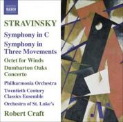 Robert Craft: Stravinsky: Symphony in C - Symphony in 3 Movements - Octet - Dumbarton Oaks - CD