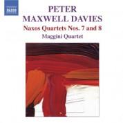 Maggini Quartet: Maxwell Davies, P.: Naxos Quartets Nos. 7 and 8 - CD