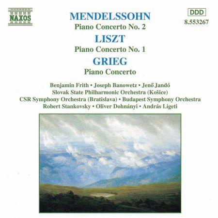 Mendelssohn / Liszt / Grieg: Piano Concertos - CD