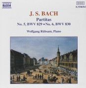 Wolfgang Rübsam: J.S. Bach: Partitas Nos. 5-6, BWV 829-830 - CD